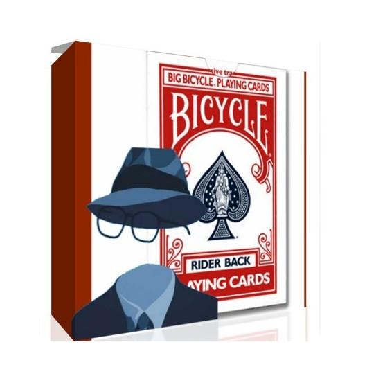 Bicycle INVISIBLE Jumbo (roja)