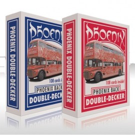 Baraja Phoenix Double Decker Roja/Azul  (Tamaño salón)
