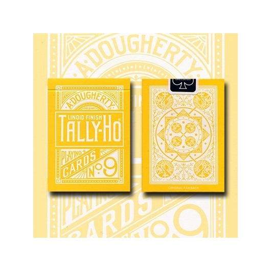 Tally Ho Reverse Fan back-Amarilla