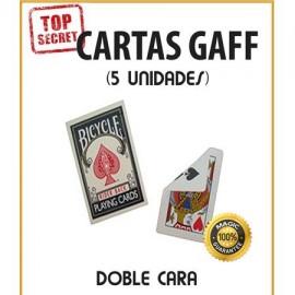 Cartas Gaff doble cara (5 unidades)