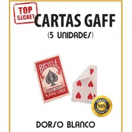 Cartas Gaff cara normal/dorso blanco (5 unidades)