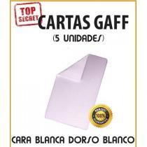 Cartas Gaff cara blanca/dorso blanco (5 unidades)
