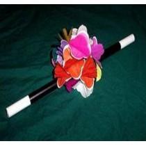 Aparición de flores desde varita