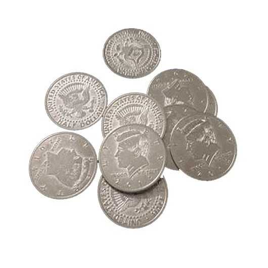 Palming Coins, Half Dollar Version