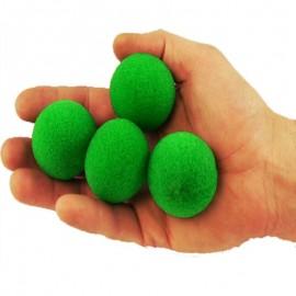 Set bolas esponja Verde super soft(1,5) 4 unidades