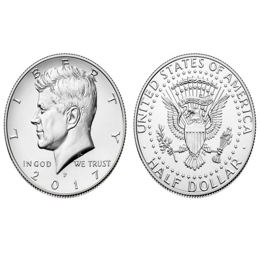 Moneda 1/2 Dolar 2015 (nueva)