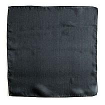 """Pañuelo Seda Negro 6"""" (15x15)"""