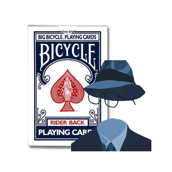 Baraja Bicycle INVISIBLE Jumbo (azul)