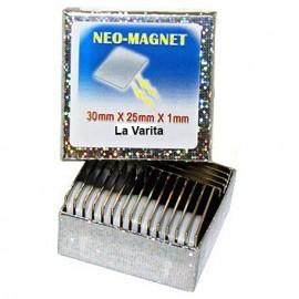 Set iman de neodimio plano 30x15x1mm (set de dos imanes)