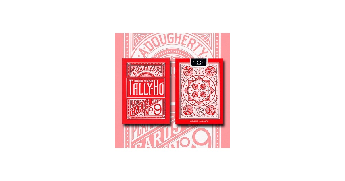 Tally Ho Reverse Fan back-Roja