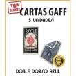 Cartas Gaff doble dorso azul (5 unidades)