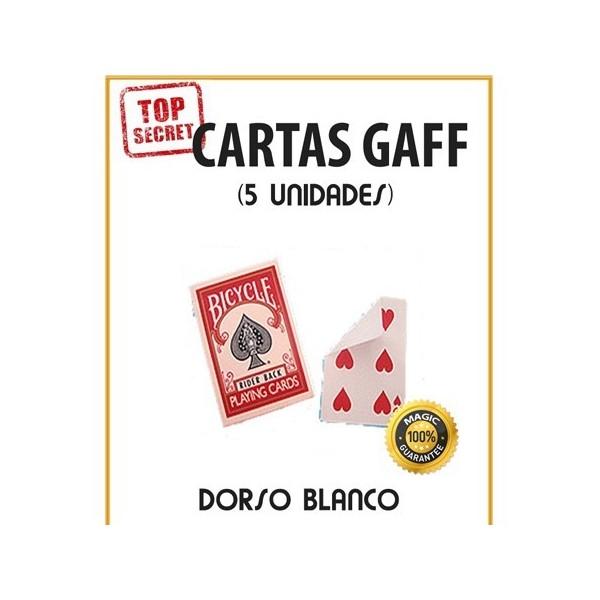 Cartas Gaff cara normal/dorso blanco (5 unidades)