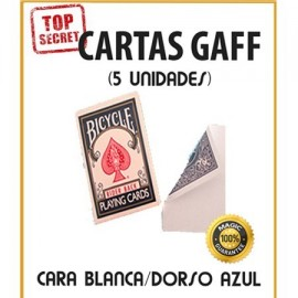 Cartas Gaff cara blanca/dorso azul (5 unidades)