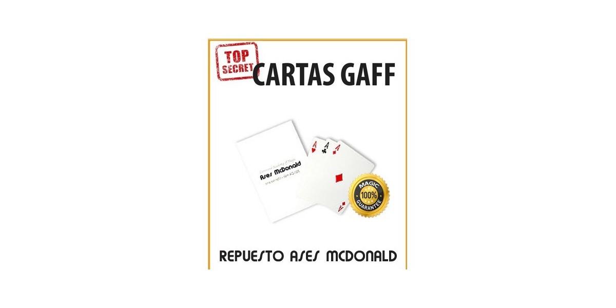 Cartas Gaff repuesto Ases McDonald