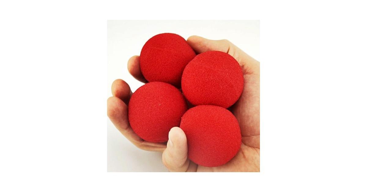 Bolas Esponjas 2 pulgadas rojas (4 unidades)