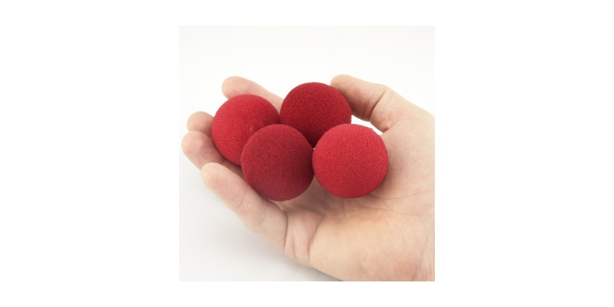 Set bolas esponja roja (1,5cm) 5 unidades