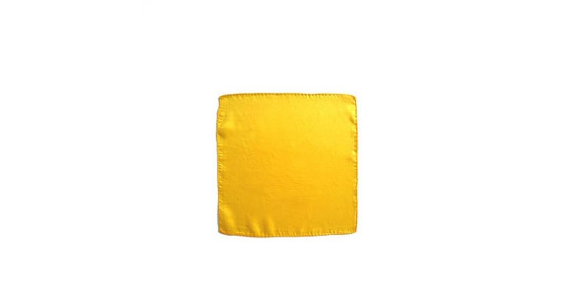 "Pañuelo Seda Amarillo 9"" (23x23)"