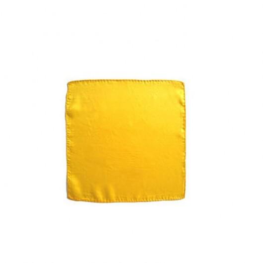 "Pañuelo Seda Amarillo 12"" (30x30)"