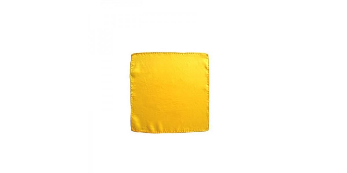 "Pañuelo Seda Amarillo 18"" (45x45)"