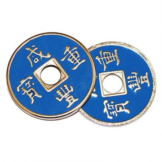Cascarilla china + moneda (azul)