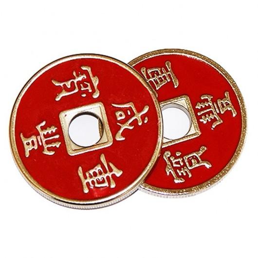 Cascarilla china + moneda (roja)