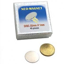 Set iman de neodimio Disco 22x1mm   (2