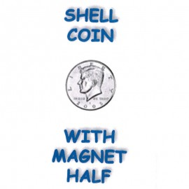 Shell coin with magnet  1/2 Dolar