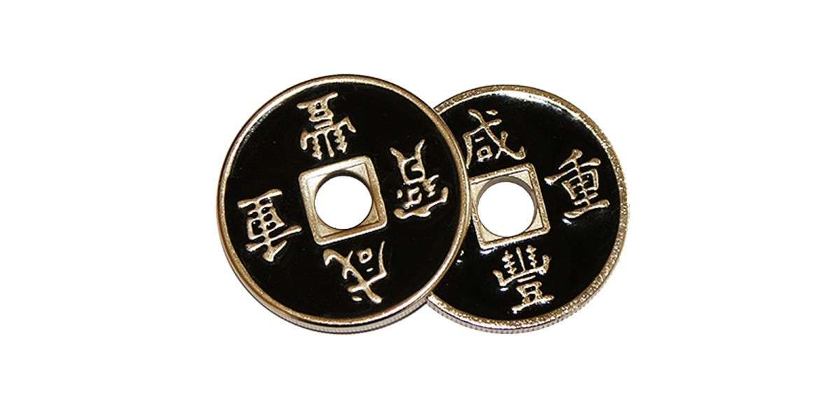 Set moneda china negra + cascarilla