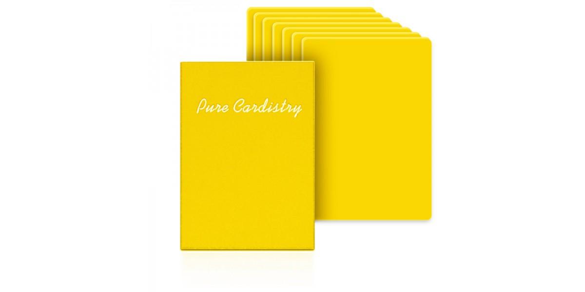 Baraja entrenamiento pure cardistry amarilla
