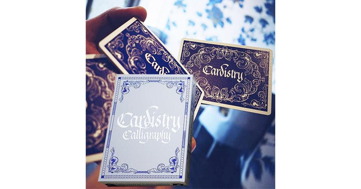 Baraja Cardistry Calligraphy Azul