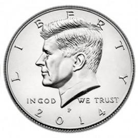 Moneda doble cara 1/2 dolar (cara)