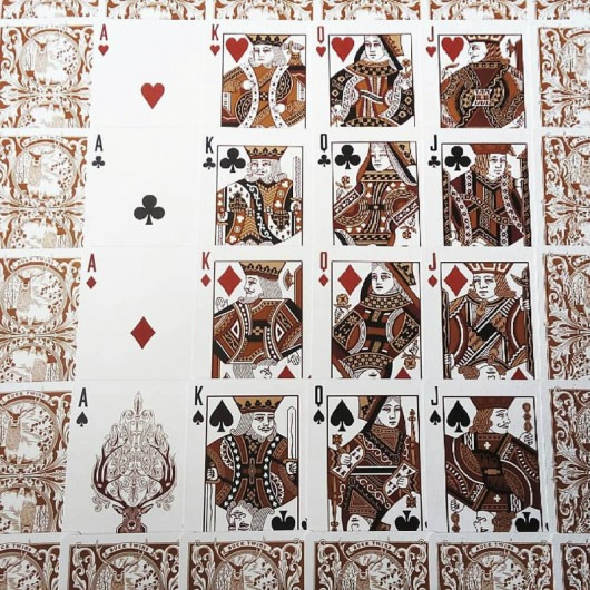 Antler Playing Cards by Dan And Dave Tobacco Brown