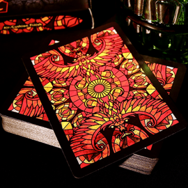 Baraja Bicycle Stained Glass Phoenix Deck