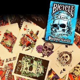 Baraja Bicycle Club Tatoo (Azul)