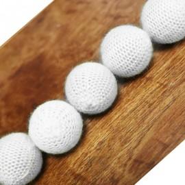 """Crochet 5 Ball combo set (1""""/White)"""
