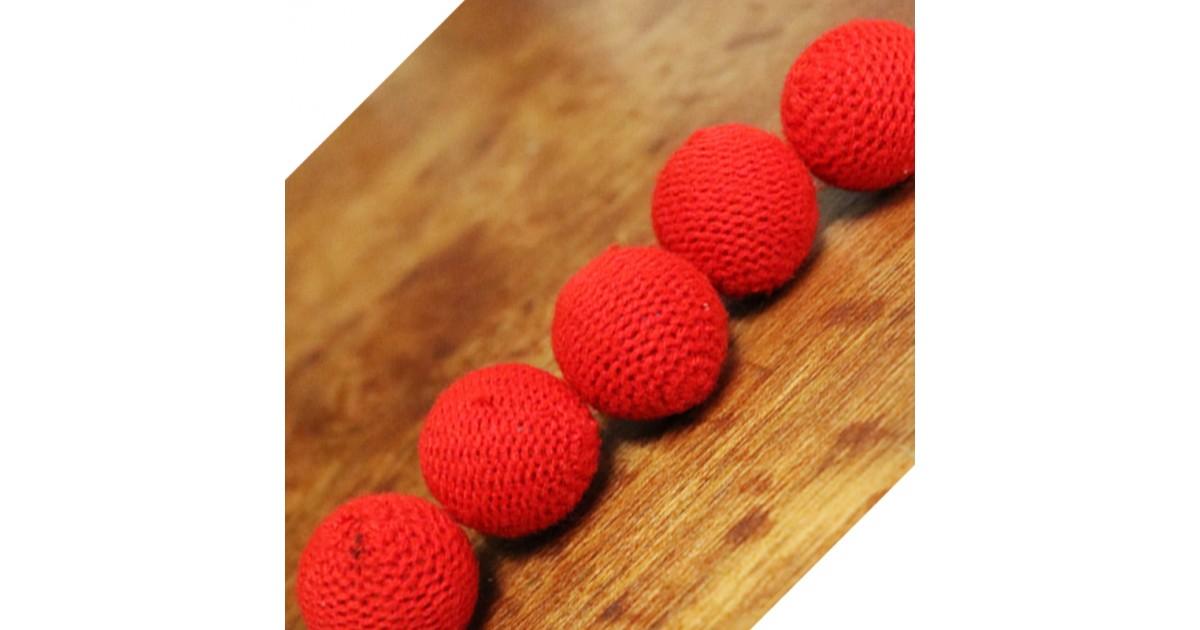"Bolas de Crochet Combo 1"" Rojas"