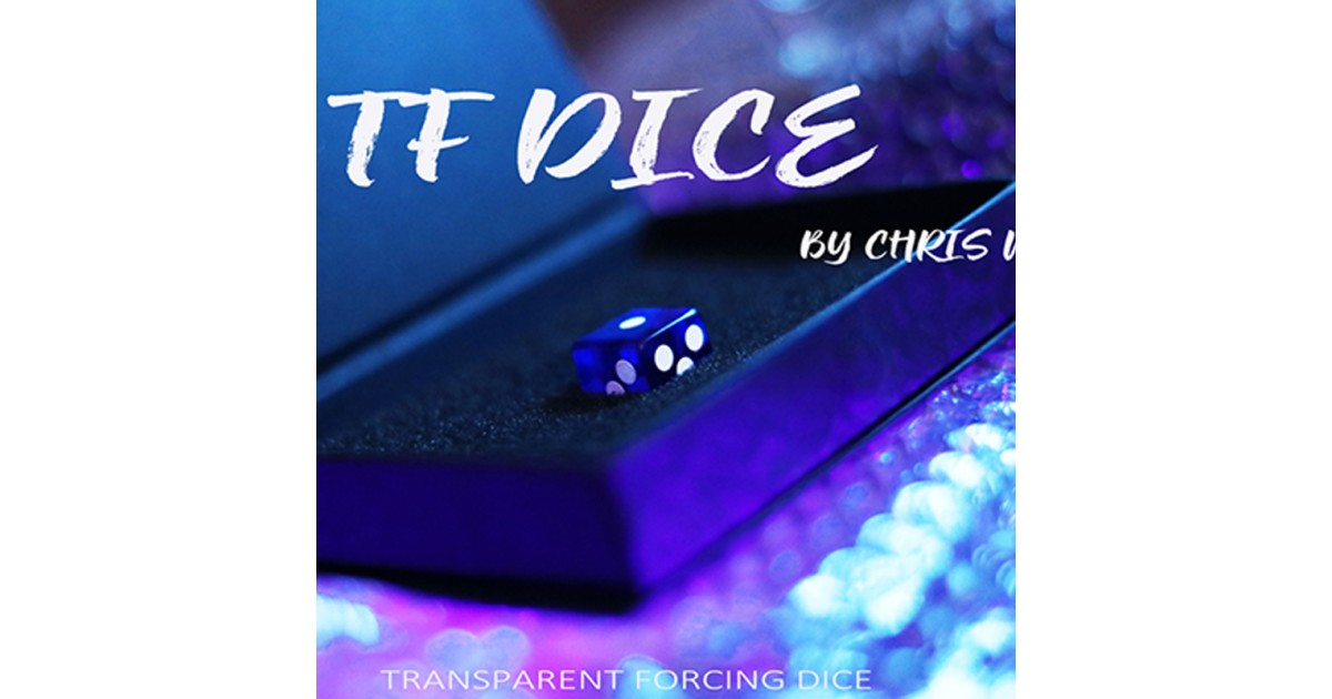 TF Dice (Dado Forzaje Transparente) Azul