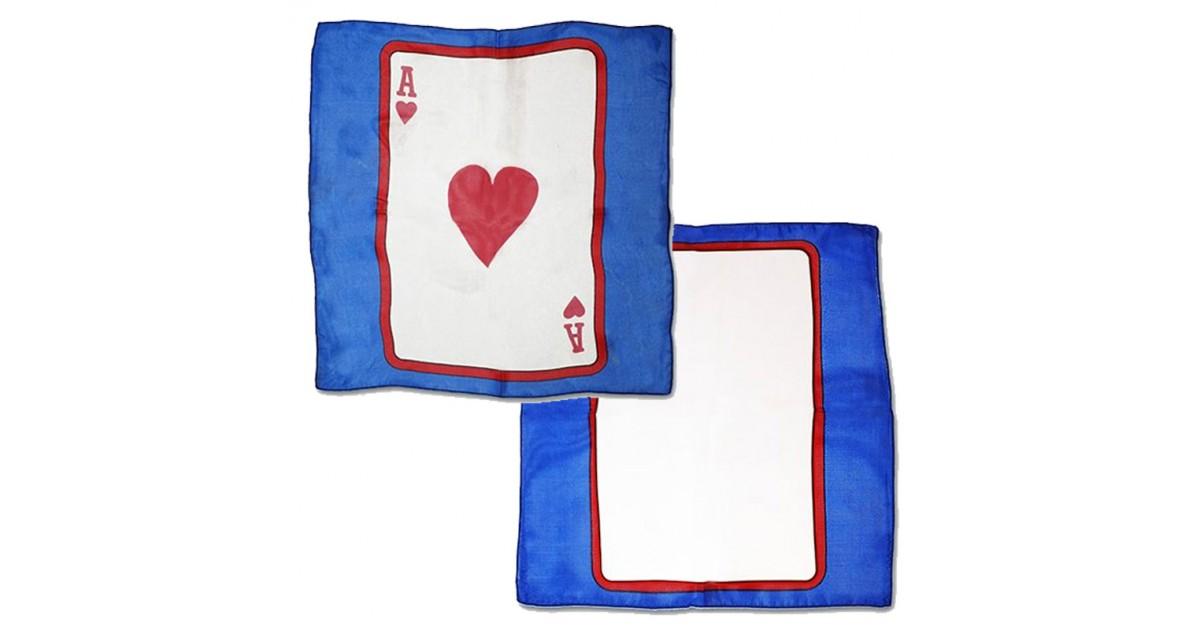 Card on silk Ace of Heart 30cm (Sitta Silk)