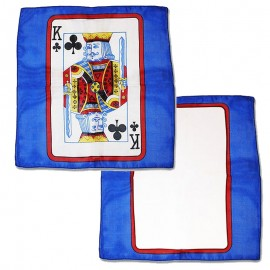 Card on silk King of Clubs 30cm (Sitta Silk)