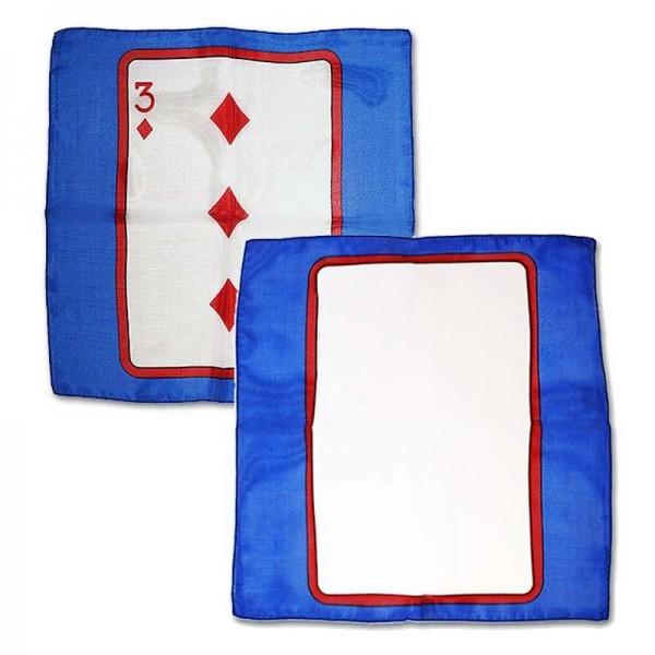 Card on silk 3 of Diamonds 30cm (Sitta Silk)