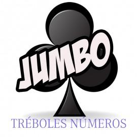 Baraja Forzaje Jumbo una vía (Tréboles-Número)