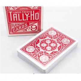 Baraja Tally Ho-Fan back (roja)