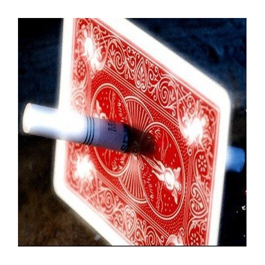 Cigarrillo a traves de carta by Gimmikartas
