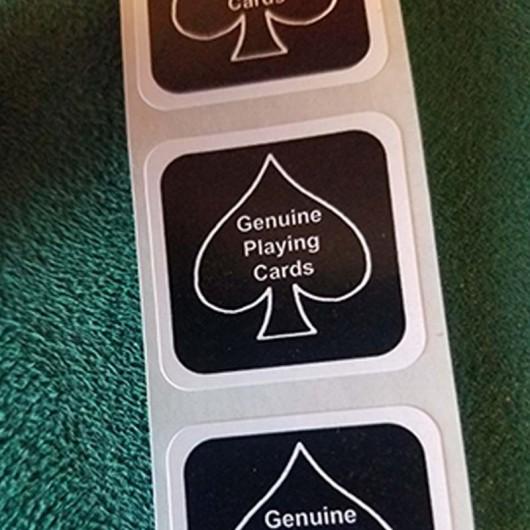 BLACK New Deck Stickers (10 units )